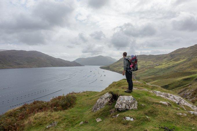 Wandern in Connemara Aussicht Killary Fjord