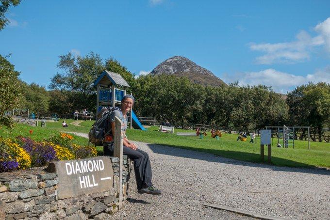 Wandern in Connemara Diamond Hill Spielplatz