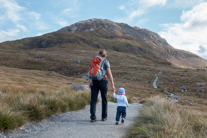 Wandern in Connemara Diamond Hill mit Kleinkind