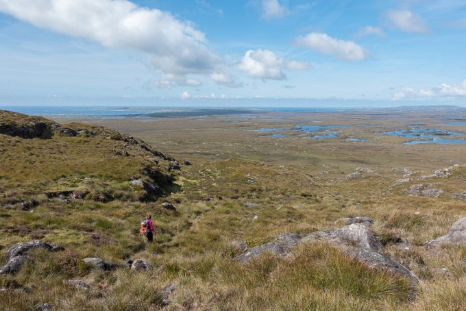 Wandern in Connemara Errisberg Abstieg