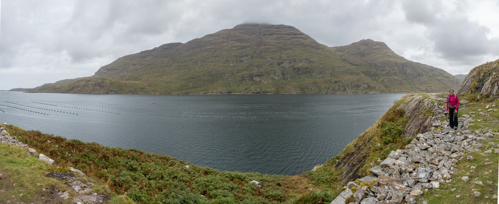 Wandern in Connemara Killary Fjord Panorama