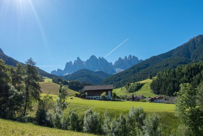 Urlaub mit Baby und Kleinkind Blick auf die Dolomiten