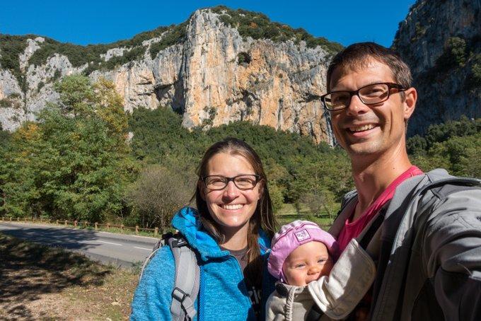 Wanderurlaub mit Baby Sonne tanken