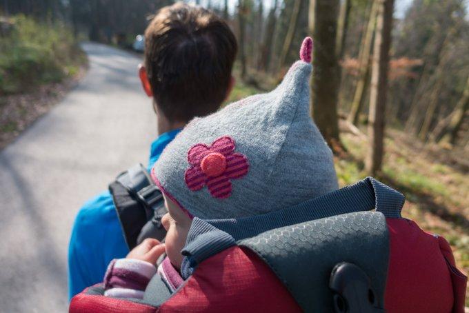 Wanderurlaub mit Baby Unser Tragebaby