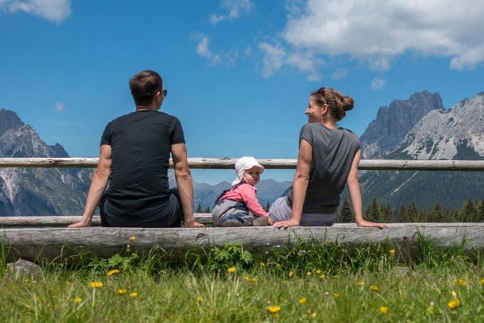Wanderurlaub mit Baby Zeit für Gespräche