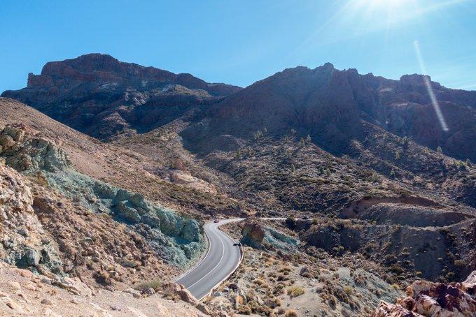 Reise Teneriffa Straße im Teide Nationalpark