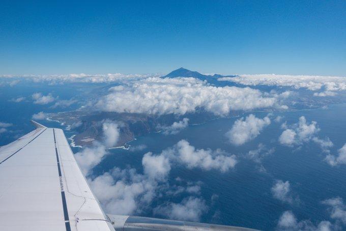 Teneriffa Anreise Blick Teide