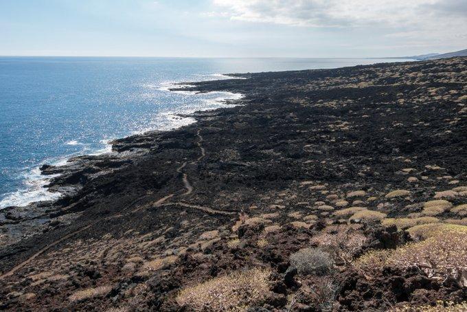 Wandern auf Teneriffa Malpais de Güimar Über Lavagestein