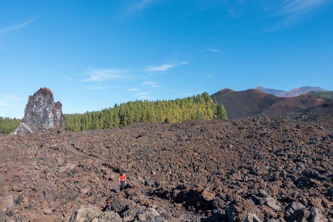 Wandern auf Teneriffa Umrundung Chinyero Lavaströme
