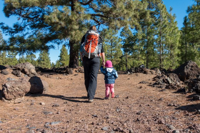 Wandern mit Kind auf Teneriffa Chinyero