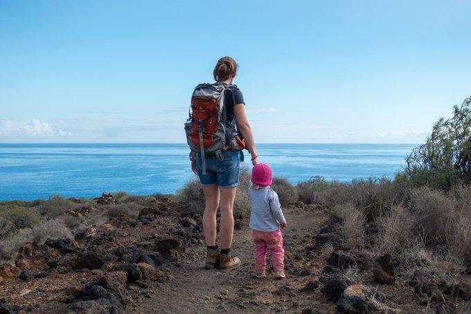 Wandern mit Kind auf Teneriffa Malpais de Güimar