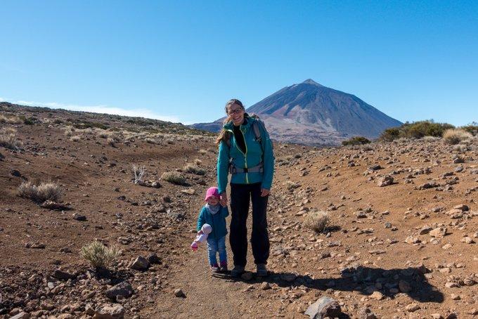 Wandern mit Kind auf Teneriffa um die Arenas Negras