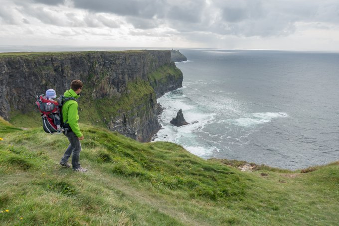 Roadtrip Irland Kleinkind Cliffs of Moher