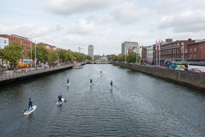 Roadtrip Irland Kleinkind Dublin SUP
