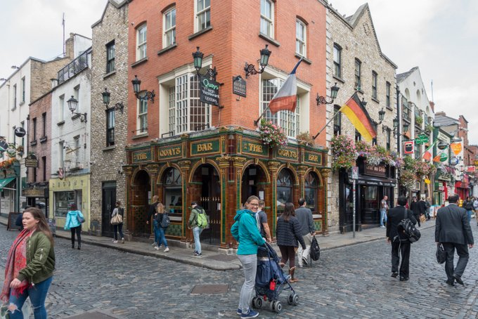 Roadtrip Irland Kleinkind Dublin Temple Bar