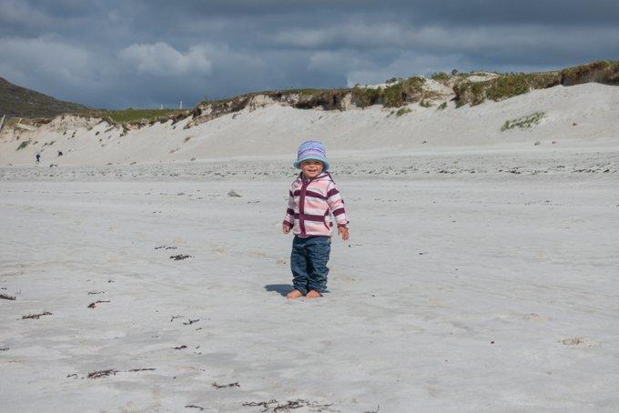 Roadtrip Irland Kleinkind Strand