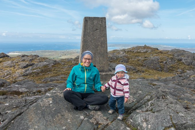 Roadtrip Irland Kleinkind Wanderung