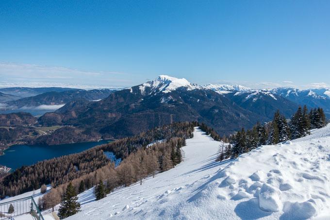 Urlaub am Wolfgangsee Blick vom Zwölferhorn