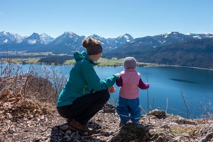 Urlaub am Wolfgangsee mit Kind und Aussicht
