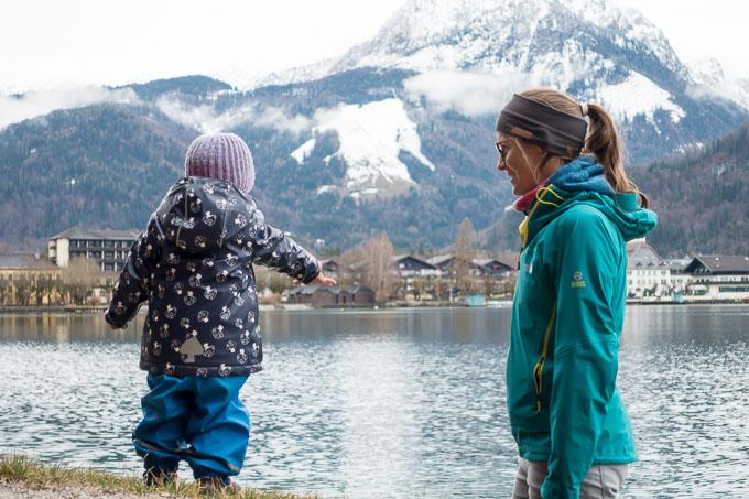 Wolfgangsee mit Kind
