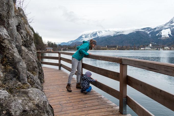 Wolfgangsee mit Kind Bürgl Panoramaweg