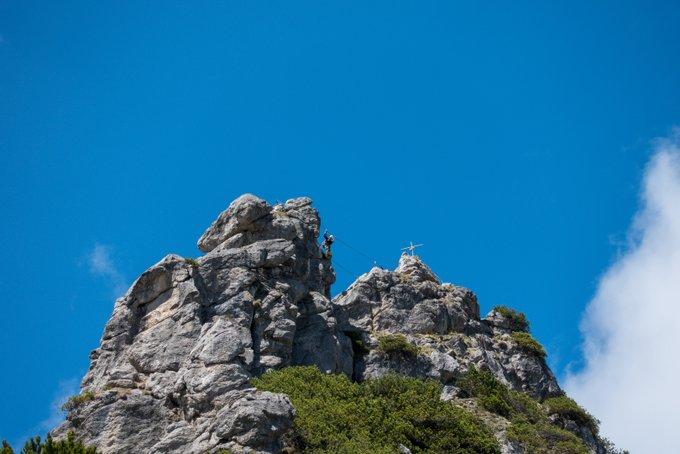 Wandern im Kaisertal Klettersteig Stripsenkopf