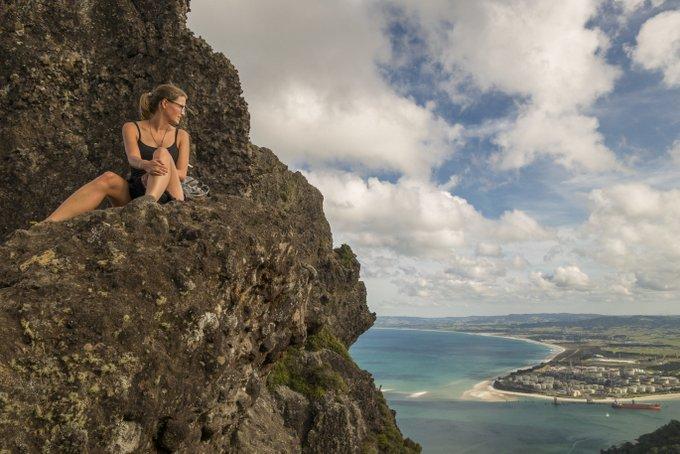 Wandern in Neuseeland Mt Manaia Track Aussicht