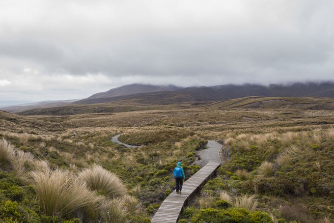 Wandern in Neuseeland Tongariro Nationalpark
