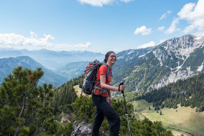 Wanderung im Kaisertal Abstieg über den Panoramasteig