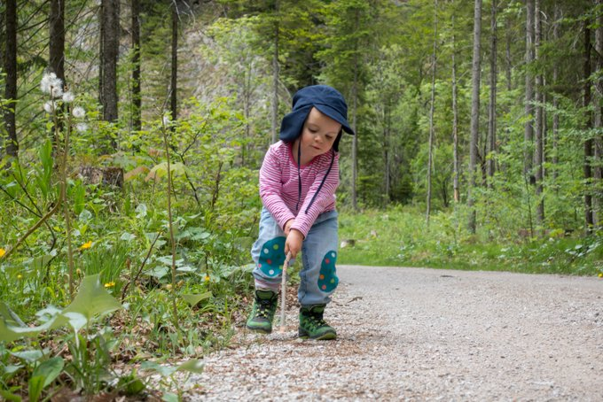 Wanderung mit Kleinkind im Kaisertal