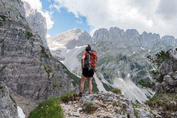 Wandern in Tirol Aussicht Wilder Kaiser