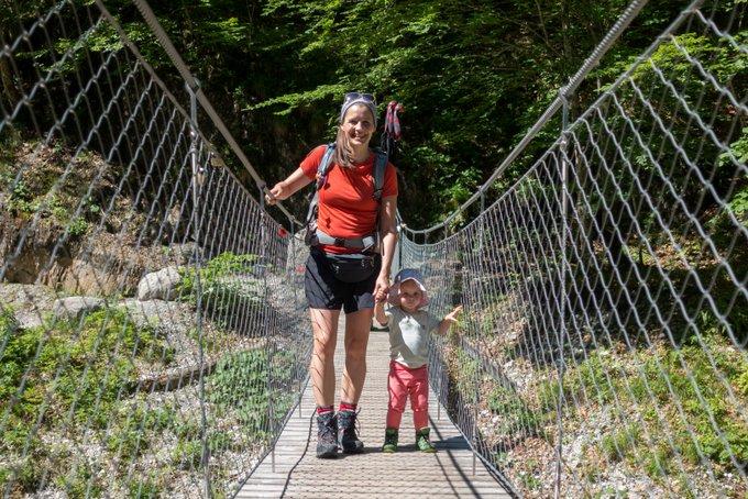 Wandern in Tirol Grießbachklamm mit Kindern