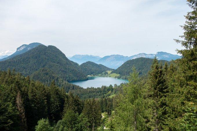 Wandern in Tirol mit Kindern Blick auf den Hintersteiner See