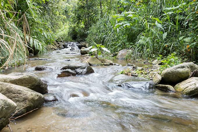 Wasserfall ohne Graufilter ohne Sonnenbrille ISO100 1/5 Sek F11