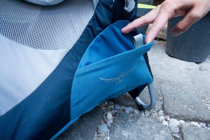 Osprey Kindertrage Praxistest Mesh Taschen