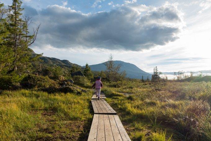 Abendspaziergang See Kvitåvatn Guasta Reiseroute Norwegen