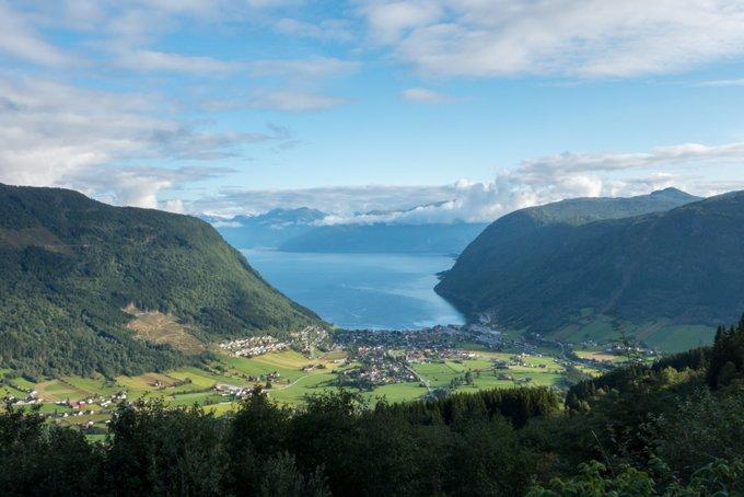 Aussichtspunkt über Vik Norwegen