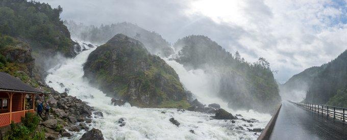 Norwegen 2 Wochen Reiseroute Fotostopp Latefossen