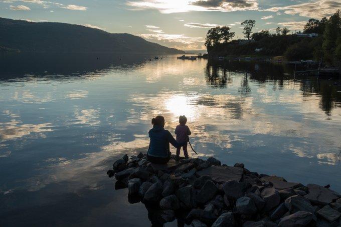 Norwegen Reiseroute Abendstimmung am Tyrifjord