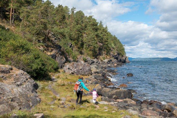 Norwegen Reiseroute Wanderung Løvøya