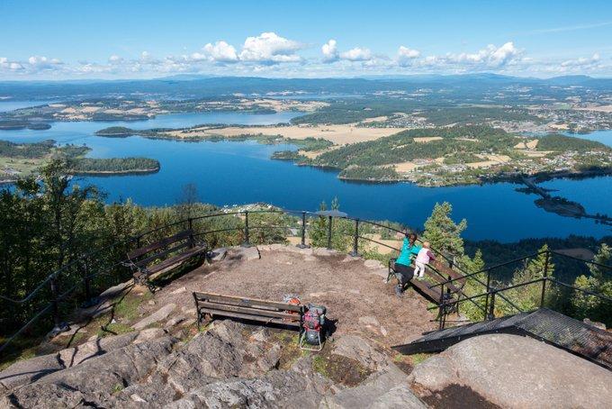 Reiseroute Norwegen Aussichtspunkt Kongens Utskikt