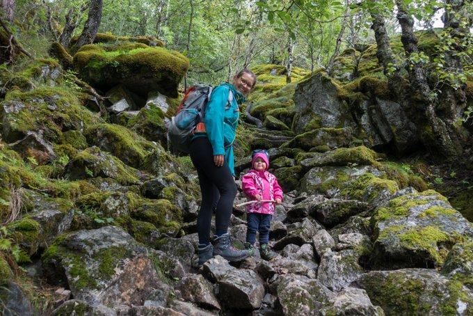 Reiseroute Norwegen Wanderung Husedalen mit Kleinkind
