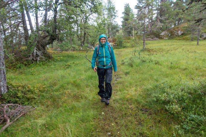 Wandern in Norwegen Kvitenjuk bei Regen