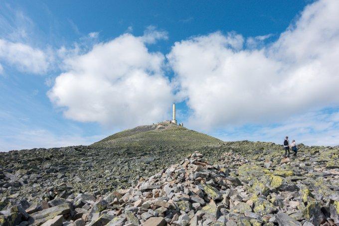 Wanderung Gaustatoppen Norwegen der Aufstieg