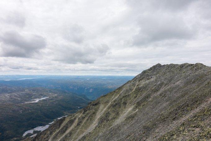 Wanderung Gaustatoppen Norwegen der Gipfel