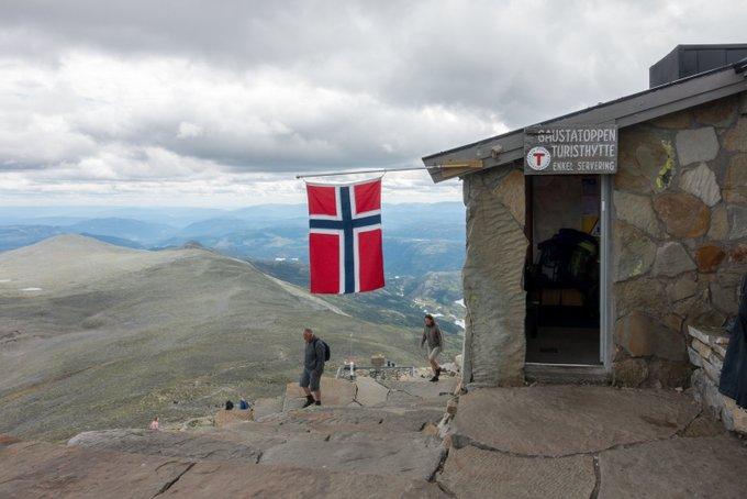 Wanderung Gaustatoppen Norwegen die Gaustahytta