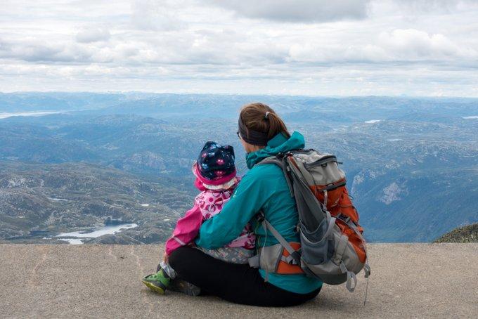 Wanderung Gaustatoppen Norwegen die Gipfelplattform