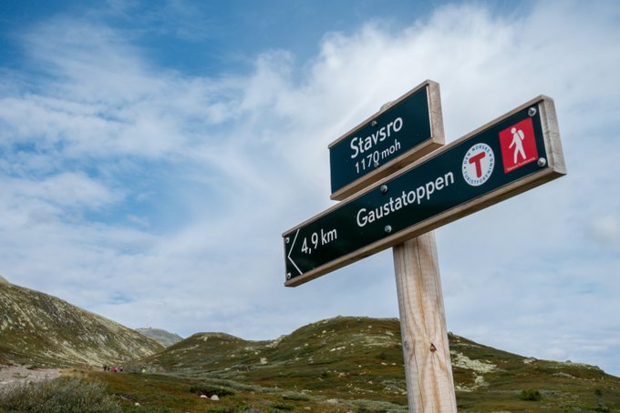 Wanderung Gaustatoppen Norwegen von Stavsro