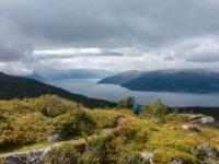 Wandern in Norwegen: Wanderung auf den Aussichtspunkt Kvitenjuk über dem Sognefjord