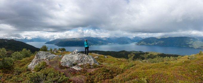Wanderung Sognefjord Panorama